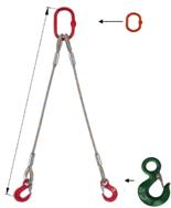 DOSTAWA GRATIS! 33948373 Zawiesie linowe dwucięgnowe miproSling C-WLL 11,8/8,4 (długość liny: 1m, udźwig: 8,4-11,8 T, średnica liny: 28 mm, wymiary ogniwa: 230x130 mm)
