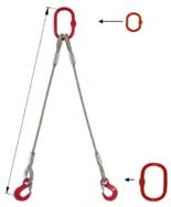 DOSTAWA GRATIS! 33948388 Zawiesie linowe dwucięgnowe miproSling T 23,5/17,0 (długość liny: 1m, udźwig: 17-23,5 T, średnica liny: 40 mm, wymiary ogniwa: 340x180 mm)