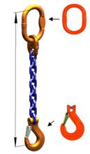 DOSTAWA GRATIS! 33971823 Zawiesie łańcuchowe jednocięgnowe klasy 10 miproSling KHSW 10 (długość łańcucha: 1m, udźwig: 10 T, średnica łańcucha: 16 mm, wymiary ogniwa: 180x100 mm)