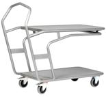 DOSTAWA GRATIS! 39955509 Wózek platformowy, 2 półki (wymiary: 1278,4x600x1115,3 mm)