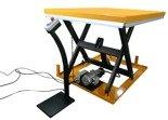 DOSTAWA GRATIS! 44366757 Elektryczny stół warsztatowy podnośny nożycowy (udźwig: 1000kg, wymiary platformy: 1450x1140 mm, wysokość podnoszenia min/max: 205-990 mm)
