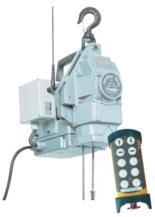 DOSTAWA GRATIS! 44929805 Przenośna wciągarka linowa silnikowa Tractel® Minifor TR10, sterowanie radiowe, 230V (udźwig: 100/200 kg)