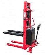 DOSTAWA GRATIS! 62666874 Wózek półelektryczny (udźwig: 1500kg, długość wideł: 1150mm, zakres podnoszenia: 90-2500mm)