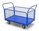 DOSTAWA GRATIS! 62666878 Wózek platformowy osiatkowany (udźwig: 400 kg, wymiary platformy: 950x570 mm)
