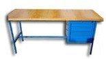DOSTAWA GRATIS! 77156840 Stół warsztatowy, 4 szuflady (wymiary: 1500x750x900 mm)