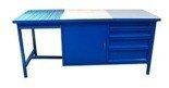 DOSTAWA GRATIS! 77156914 Stół spawalniczy, 4 szuflady, 1 szafka (wymiary: 2000x800x900 mm)