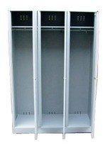 DOSTAWA GRATIS! 77157012 Szafa odzieżowa BHP, 3 drzwi (wymiary: 1800x1200x480 mm)