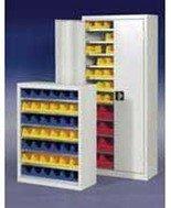 DOSTAWA GRATIS! 77157187 Szafa z plastikowymi pojemnikami, 42 sztuki (wymiary: 1000x800x440 mm)