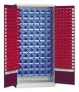 DOSTAWA GRATIS! 77170769 Szafka narzędziowa z pojemnikami plastikowymi, 80/36 pojemników (wymiary: 1000x970x440 mm)