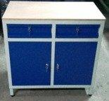 DOSTAWA GRATIS! 77170783 Szafa narzędziowa, 2 szuflady, szafki z półką (wymiary: 1000x1000x600 mm)