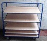 DOSTAWA GRATIS! 77170829 Wózek z pochylonymi półkami, 5 półek (wymiary: 1300x600 mm)