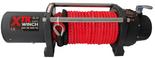 DOSTAWA GRATIS! 81874123 Wyciągarka XTR 8000 lbs [3629 kg] z liną syntetyczną w oplocie z dużym hakiem 24V (średnica liny: 10mm, długość liny: 25m)