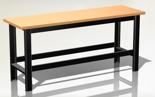 DOSTAWA GRATIS! 87853387 Stół warsztatowy podstawowy - blat pokryty gumą (wymiary: 1960x890x600 mm)