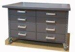 DOSTAWA GRATIS! 91059978 Stół z szufladami na kółkach, 8 szuflad (blat: 120x78 cm, wys: 78 cm)