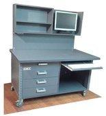 DOSTAWA GRATIS! 91073684 Stół do pakowania z ścianką na kółkach (blat: 120x78 cm, wys: 78 cm, wys ścianki:76 cm)