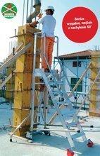 DOSTAWA GRATIS! 99675066 Drabina magazynowa 7 stopniowa FARAONE (wysokość robocza: 3,52m)