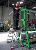 DOSTAWA GRATIS! 99675083 Drabina magazynowa FARAONE 4 stopniowa (wysokość robocza: 2,78m, wymiary platformy: 57x31 cm)