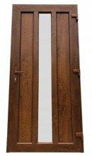 Drzwi zewnętrzne wejściowe (kolor: złoty dąb, strona: lewa, szerokość: 100 cm) 26271892
