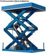 Podnośnik, podest nożycowy (udźwig: 6200 kg, wymiary platformy: 4500x2600 mm, wysokość podnoszenia min/max: 300-800 mm, moc: 3,5kW) 01878556