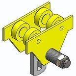 RANG Wózek szynowy jednobelkowy - bez napędu (udźwig: 3 T, zakres toru jezdnego: 76-300 mm) 10278712