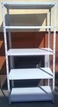 Regał metalowy, 5 półek (wymiary: 2500x900x600 mm, obciążenie półki: 150 kg) 77170604