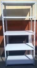 Regał metalowy, 6 półek (wymiary: 3000x900x400 mm, obciążenie półki: 150 kg) 77156796