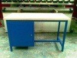 Stół warsztatowy dwustanowiskowy, 1 szafka (wymiary: 2000x750x900 mm) 77156849