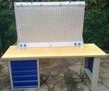 Stół warsztatowy z nadbudową, 6 szuflad (wymiary: 2000x750x900 mm) 77156973