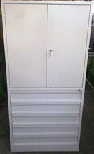 Szafa narzędziowa, 5 szuflad, 2 przestawiane półki (wymiary: 2000x970x500 mm) 77157230
