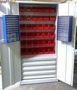 Szafa narzędziowa z pojemnikami, 4 szuflady, 38 pojemników (wymiary: 2000x900x500 mm) 77157248
