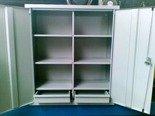 Szafka narzędziowa, 2 szuflady i 6 półek (wymiary: 1000x600x350 mm) 77170770