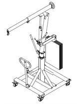 Tretok 61773972 Żuraw hydrauliczny obrotowy ręczny (udźwig: od 300 do 520 kg)