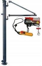 Wciągarka elektryczna linowa budowlana + Wysoki maszt + Ramie robocze (udźwig: 100/200 kg, długość liny: 15/7,5 m) 08172262