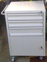 Wózek narzędziowy, 3 szuflady, 1 szafka (wymiary: 1000x600x500 mm) 77157355