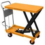 Wózek nożycowy platformowy (udźwig: 300 kg, wymiary platformy: 500x800 mm, wysokość podnoszenia min/max: 430-900 mm) 02869880
