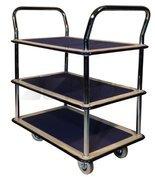 Wózek platformowy trzypółkowy (udźwig: 120 kg, wymiary platformy: 740x480 mm) 03076056