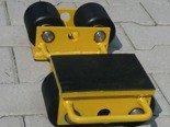 Wózek stały 2 rolkowy, rolki: 2x nylon (nośność: 2 T) 12235586