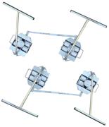 Zestaw transportowy, rolki poliamidowe,  4 skrętne dyszle (nośność: 10 T) 13360195
