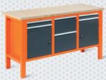 99551617 Stół warsztatowy, 6 szuflad, 2 drzwi (wymiary: 850-900x1765x620 mm)