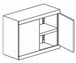 99551664 Nadstawka do szaf biurowych 0,7mm, 2 drzwi, 1 półka (wymiary: 810x800x435 mm)