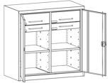 99552506 Szafa warsztatowa, 2 półki, 4 szuflady (wymiary: 1000x1000x500 mm)