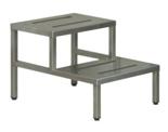 99552578 Podnóżek i podest operacyjny z blachy kwasoodpornej (wymiary: 430x500x650 mm)