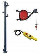 DOSTAWA GRATIS! 08172268 Wciągarka elektryczna linowa budowlana + Wysoki maszt + lina 30m + sterowanie ręczne 15m (udźwig: 325 kg)