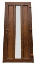 DOSTAWA GRATIS! 26271892 Drzwi zewnętrzne wejściowe (kolor: złoty dąb, strona: lewa, szerokość: 100 cm)