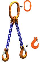 DOSTAWA GRATIS! 33948215 Zawiesie łańcuchowe dwucięgnowe klasy 10 miproSling HCS 14,0/10,0 (długość łańcucha: 1m, udźwig: 10-14 T, średnica łańcucha: 16 mm, wymiary ogniwa: 200x110 mm)