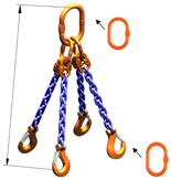 DOSTAWA GRATIS! 33948240 Zawiesie łańcuchowe czterocięgnowe klasy 10 miproSling AS 30,0/21,2 (długość łańcucha: 1m, udźwig: 21,2-30 T, średnica łańcucha: 19 mm, wymiary ogniwa: 350x190 mm)