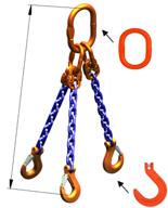 DOSTAWA GRATIS! 33948280 Zawiesie łańcuchowe trzycięgnowe klasy 10 miproSling KFW 30,0/21,2 (długość łańcucha: 1m, udźwig: 21,2-30 T, średnica łańcucha: 19 mm, wymiary ogniwa: 350x190 mm)
