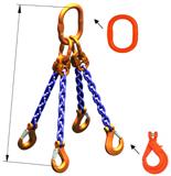 DOSTAWA GRATIS! 33948301 Zawiesie łańcuchowe czterocięgnowe klasy 10 miproSling KLHW 30,0/21,2 (długość łańcucha: 1m, udźwig: 21,2-30 T, średnica łańcucha: 19 mm, wymiary ogniwa: 350x190 mm)