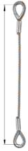 DOSTAWA GRATIS! 33948331 Zawiesie linowe jednocięgnowe zaciskane tulejkami cylindrycznymi miproSling Typu Fk (udźwig: 29 T, wymiary pętli: 830/415 mm, średnica liny: 52 mm, długość liny: 1 m)