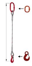 DOSTAWA GRATIS! 33948336 Zawiesie linowe jednocięgnowe miproSling HE 14,00 (długość liny: 1m, udźwig: 14 T, średnica liny: 36 mm, wymiary ogniwa: 275x150 mm)